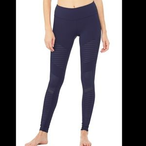 ALO Yoga Motto navy leggings